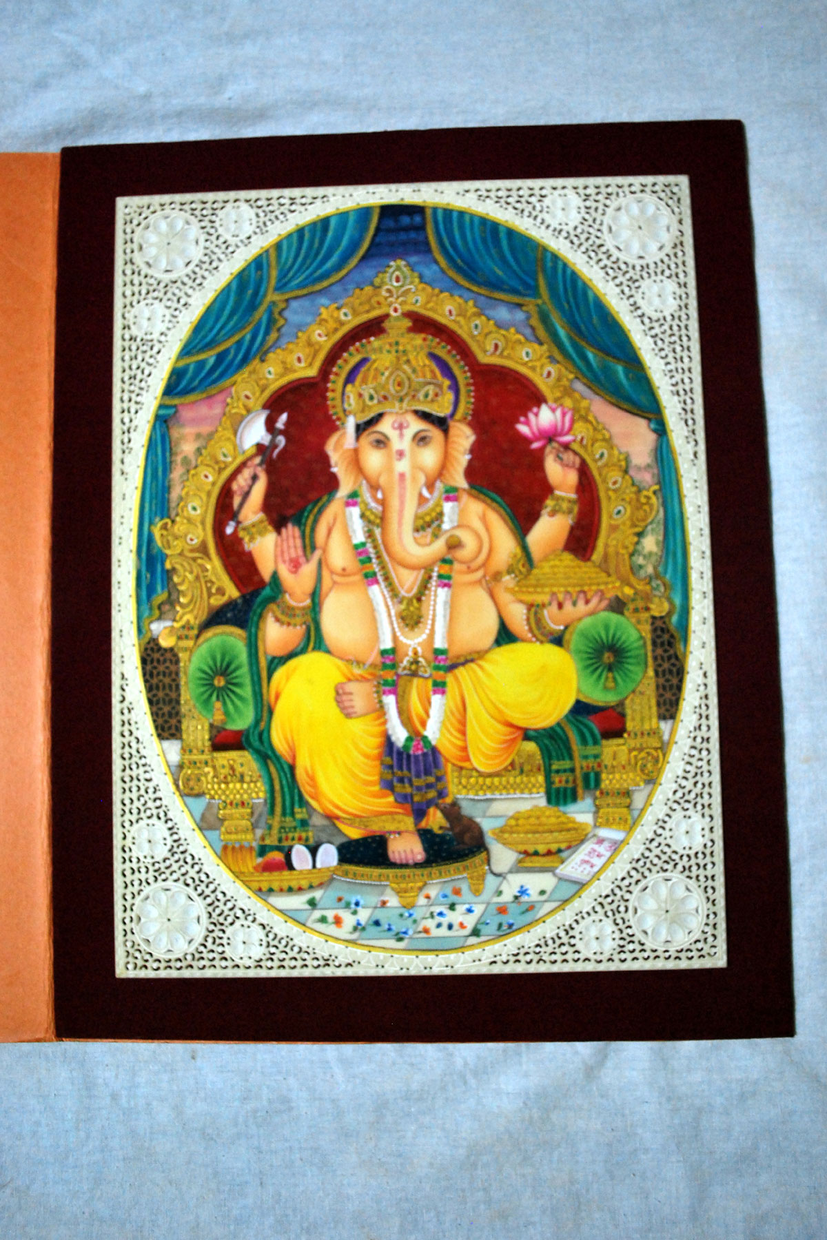 Ganesh Miniature Painting