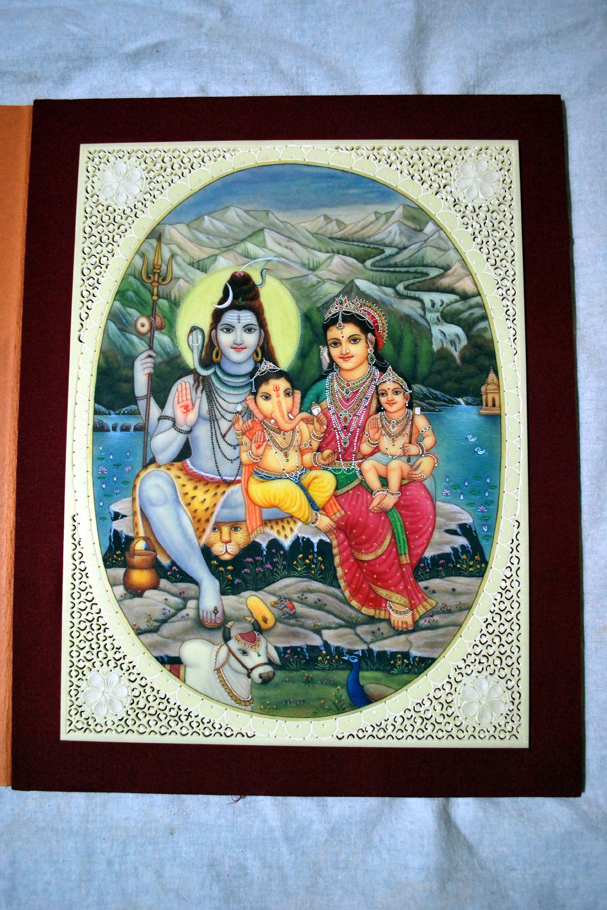 Shiva Family Miniature Painting