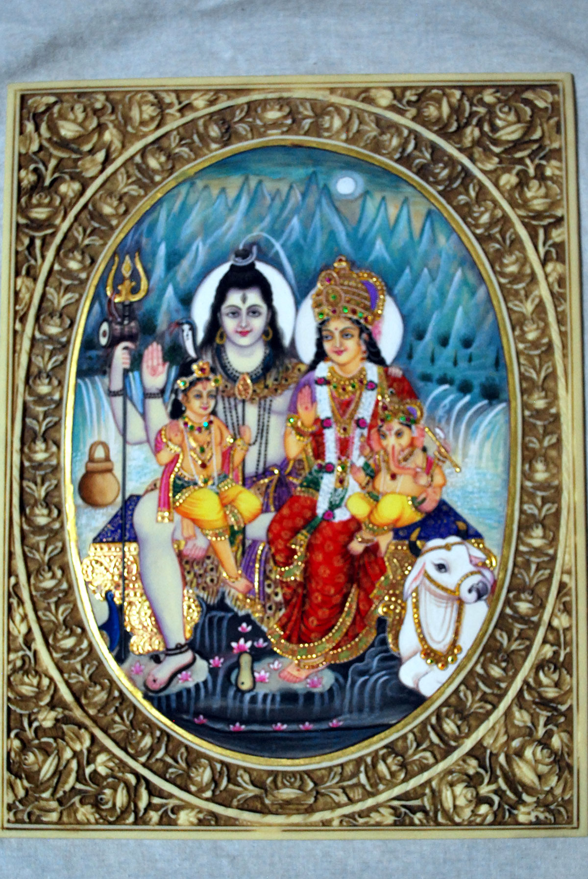Shiv Parivar Miniature Painting