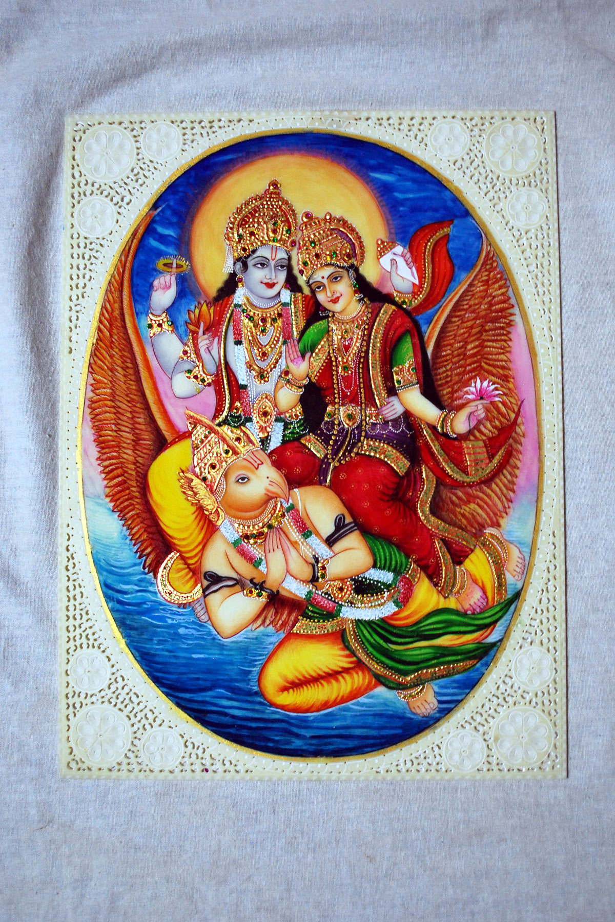 Vishnu Miniature Painting